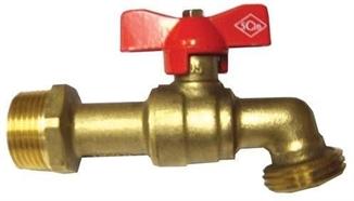 """Picture of 3/4"""" Full Port Brass Spigot"""