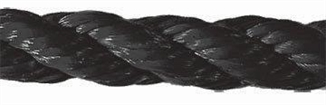 "Picture of 1/4"" Black Poly Rope"