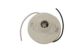 "Picture of Plastic Light Receptacle w/ 7"" Leads"