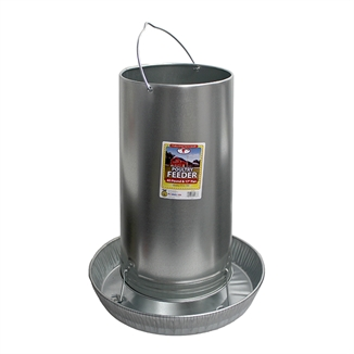 Picture of 40 lb. Hanging Chicken Feeder - Galvanized