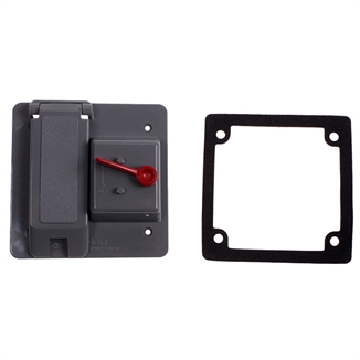 Picture of Duplex Receptacle Cover & Light Switch Combo