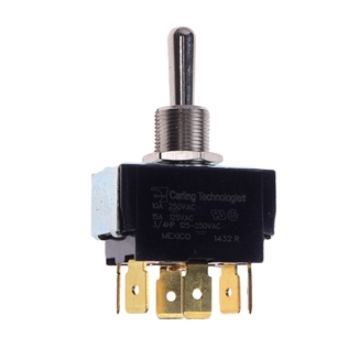 Picture of Toggle Switch DPDT 10 Amp 250 Volt Center Off