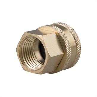 "Picture of Brass Swivel Adapter - 1/2"" FPT x 3/4"" FGHT"