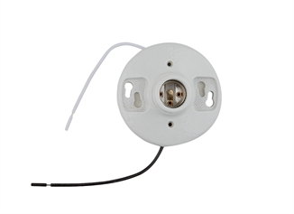 "Picture of Porcelain Light Receptacle w/ 7"" Leads"