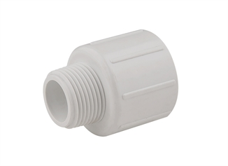"""Picture of 1"""" Slip x 3/4"""" MPT PVC Reducing Male Adapter"""