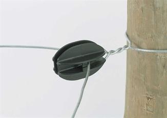 Picture of Black Corner Knob Wire Insulator - 10 Pack