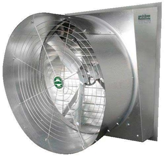 "Picture of J&D Mfg 48"" Slant Wall Galvanized Fan"