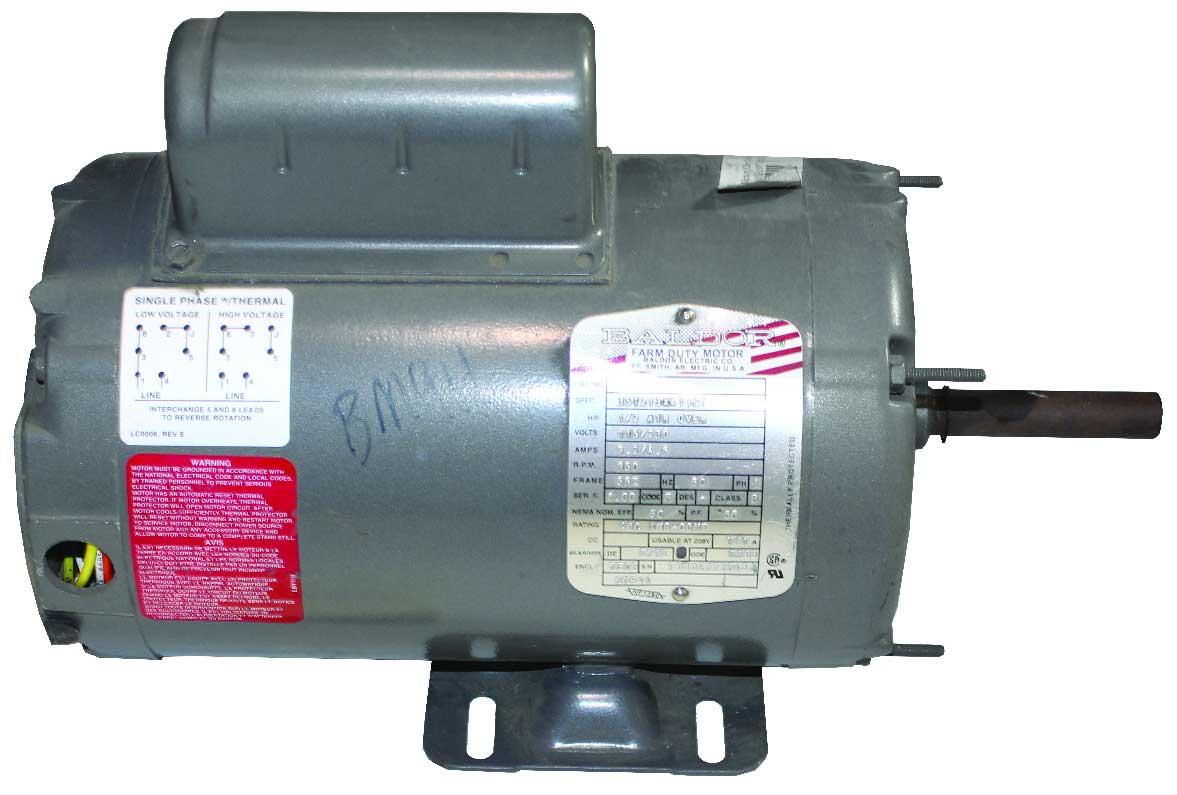 Baldor 1 2 hp fan motor 825 rpm 120v hog slat for 1 5 hp 120v electric motor