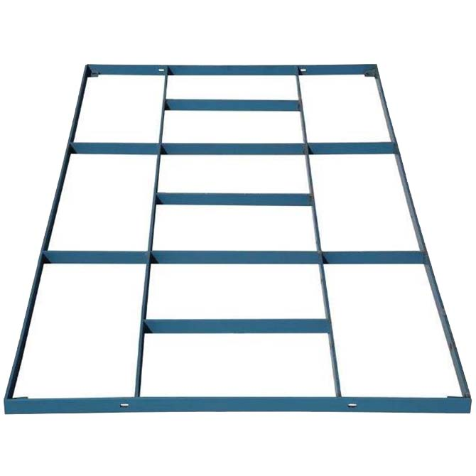 Hog Slat steel floor support frames are available in painted and galvanized finishes for farrowing and nursery flooring installations.