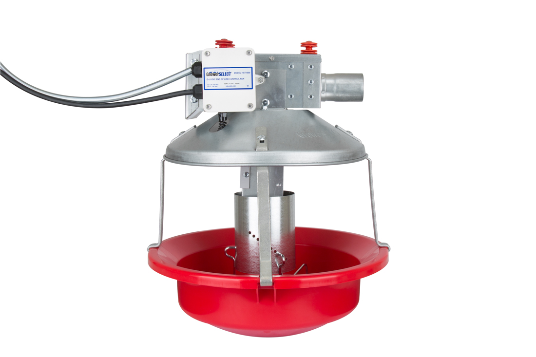 The GrowerSELECT® HST1500 Turkey Control Pan Feeder uses our G-Logic proximity sensor to monitor feed levels with improved reliability compared to traditional mechanical switches.