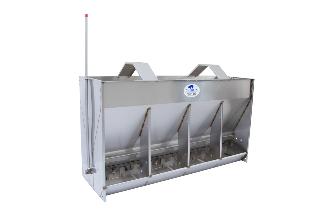 Hog Slat Wet/Dry Pig Feeder: Double-sided 4-space Platinum Series 300