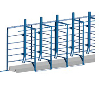 Hog Slat stanchion single single stanchion