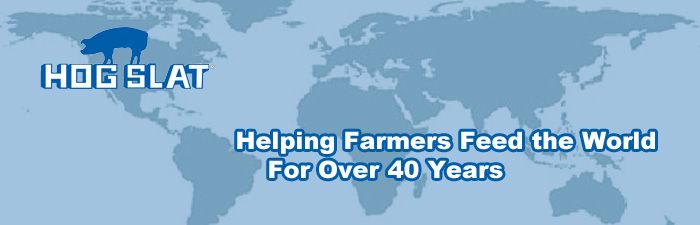 Hog Slat tagline Helping Farmer Feed the World for Over 40 Years