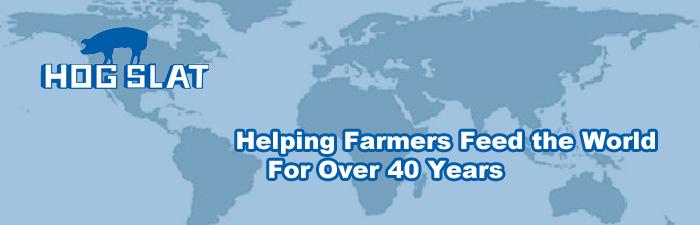Hog Slat tagline Helping Farmer Feed the World for Over 40 Years