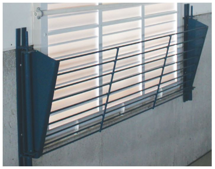 "Steel shutter guards protect your animals, fans and shutter investments. Available for 24"", 36"" and 54"" fans."