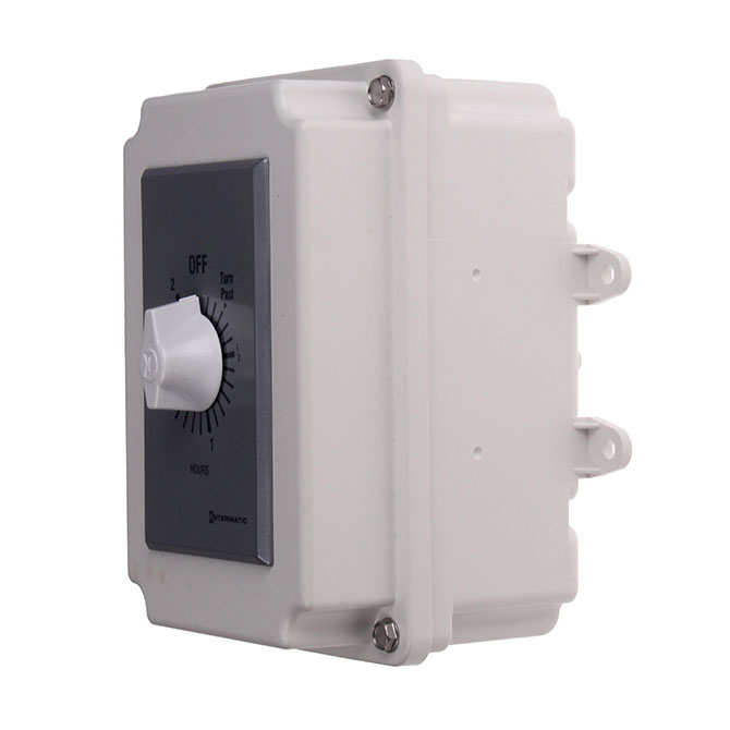 The Hog Slat® 2 Hour spring wind timer provides a simple solution to control run time on utility lights, fans, pumps or other items that do not need to run continuously.