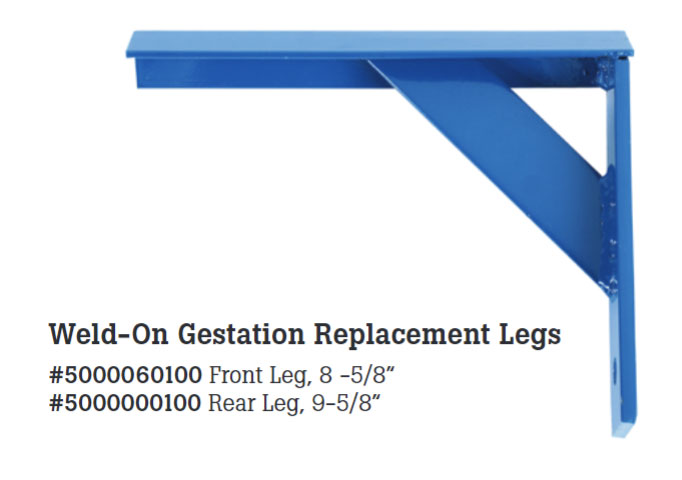 Replacement legs are available to repair or extend the life of aged or damaged stall panels.