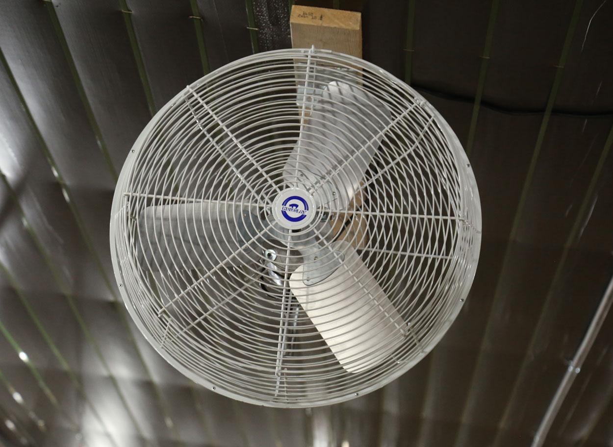 Windstorm Galvanized Fans Hog Slat
